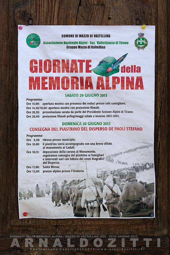 Giornate della memoria Alpina.